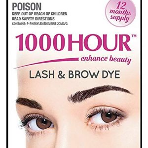 e062c79f19e 1000 Hour Eyelash & Brow Dye / Tint Kit Permanent Mascara (Black)